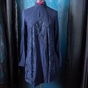 Xhilaration Lace and Trim Boho A-line Mini Dress